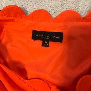 Victoria Beckham target. Orange scallop bow dress